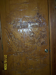 Phyliss carved this scene on a door for their home