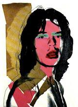 Mick Jagger...Andy Warhol