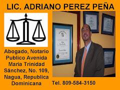 LIC. ADRIANO PEREZ PEÑA