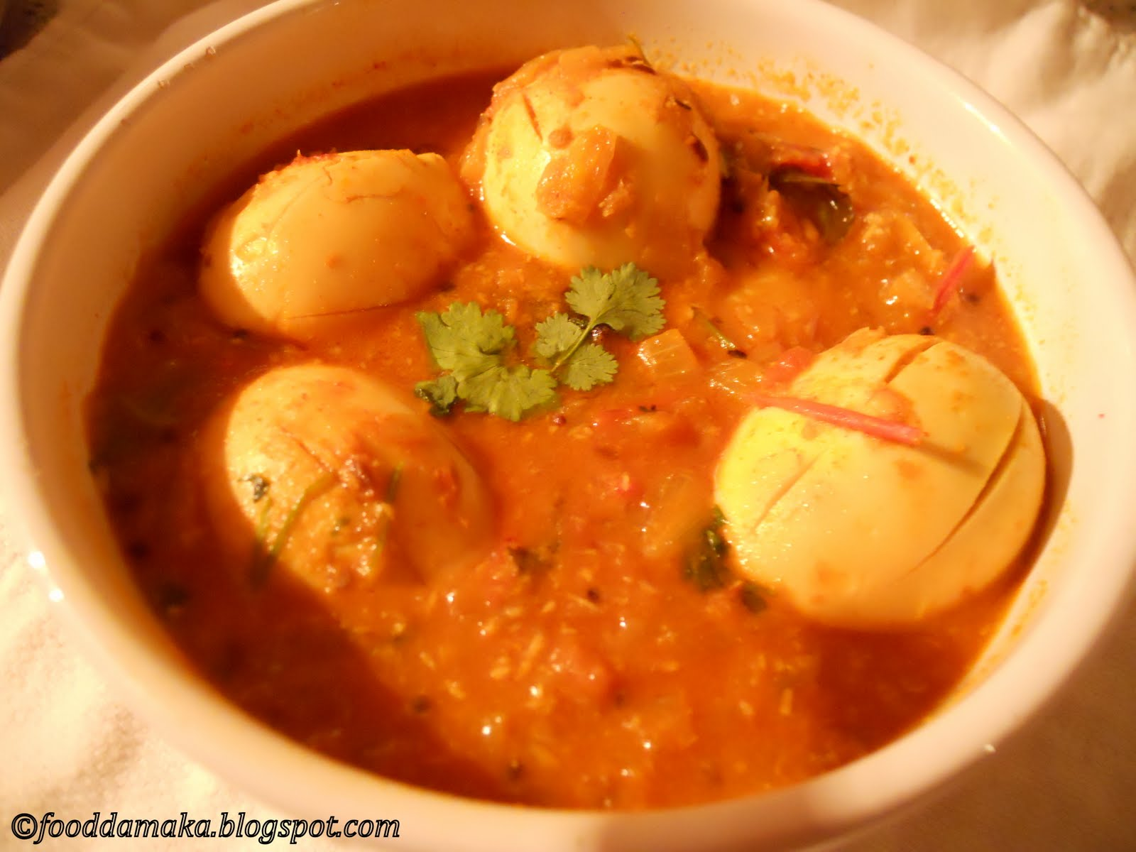 FOOD LOVERS: Spicy Egg Curry