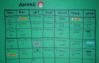 of kids and education work timetable for the holidays
