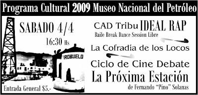 Programa Cultural 2009 del Museo Nacional del Petróleo
