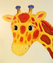 giraffe mural