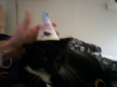 The Colonel in her party hat