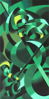 Cellist, Green Oil Painting - Daily Painting Blog - Original Oil and Acrylic Artwork by Artist Mark Webster