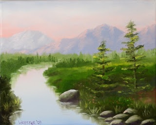 Pine for the Mountain River Painting - Daily Painting Blog - Original Oil and Acrylic Artwork by Artist Mark Webster
