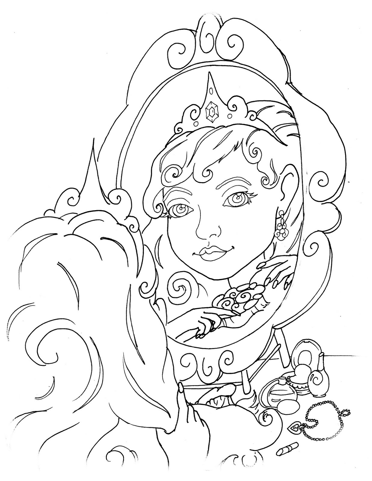 Pearson Illustration Princess Coloring Book Princess Color Book