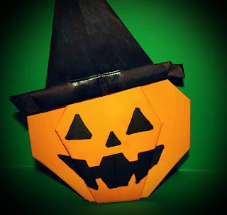 Origami Pumpkin Hat
