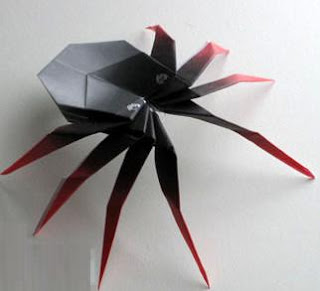 Jumping Origami Spider
