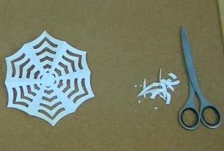 Halloween Kirigami Spider Web