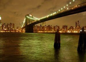 Brooklyn Bridge on A Cloudy Night
