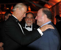 Vice President of USA Joe Biden with Vasilios Bollanos, mayor of Himara and president of Omonoia