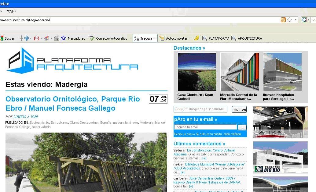 Blog T Cnico De La Madera Madergia En La Plataforma De