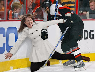 Sarah Palin Onion Hockey Check