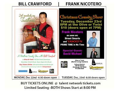 pittsburgh comedy shows bill crawford frank nicotero olive twist