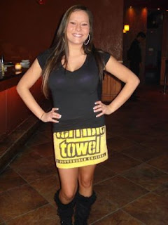 terrible towel worn as a skirt