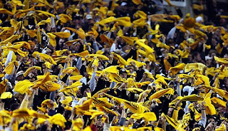 steelers fans wave terrible towels