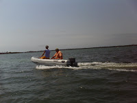 Dinghying to Cabbage Key