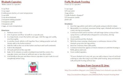 Rhubarb Cupcakes   JavaCupcake.com