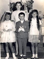 Mi madre, mis tios y su prima Loly