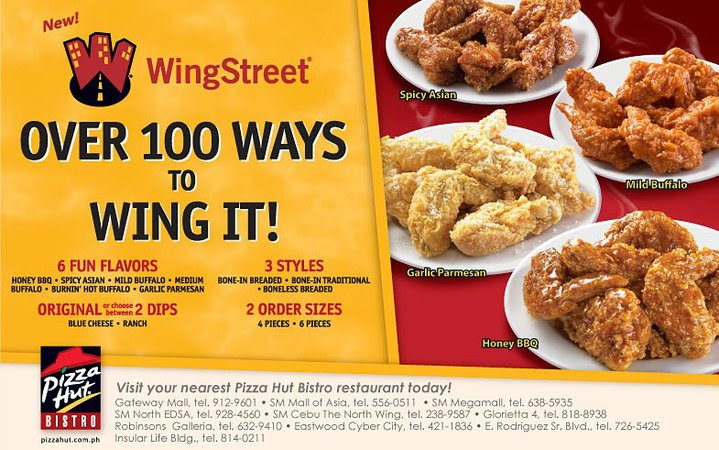 Pizza Pizza Wings. Pizza hut's Wing Street.