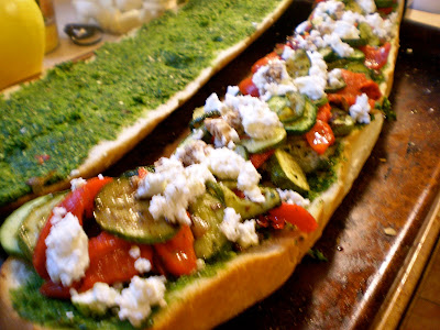 Off The Wall: Roast Vegetable Sandwich with Arugula Pesto ...