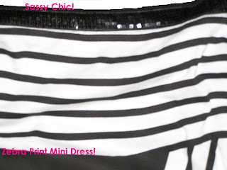 Zebra Print Mini Dress sequinns