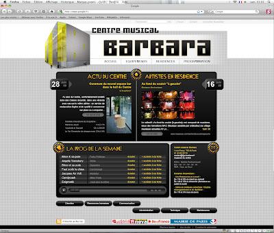 maquette du site du centre musical barbara