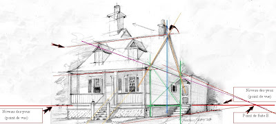 Art plein air dessin d une maison en perspective maison for Comment trouver l architecte qui a construit ma maison