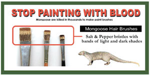 Say No to Mangoose hair's paint brushes - Kadyan
