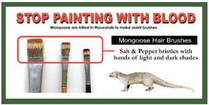 Say No to Mangoose hair's paint brushes - Kadyan