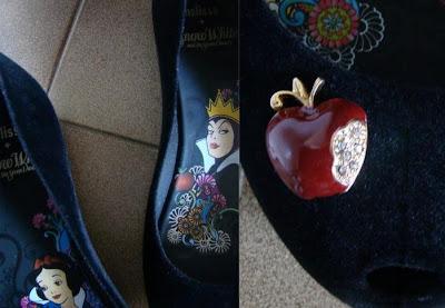 Detalhe de Maça da Melissa Branca de Neve