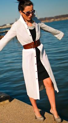 Moda: Cardigã e Cinto LookBook Aureta