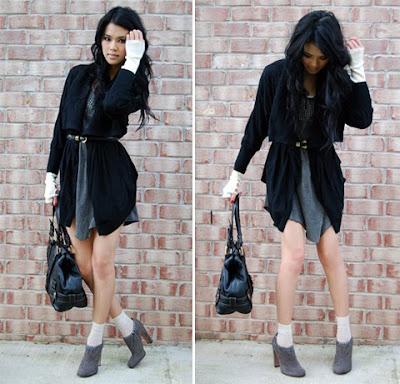 Moda da Trang: Cinto e Cardigan