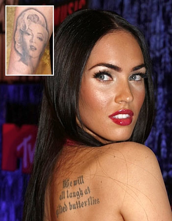 megan fox tattoos marilyn monroe. Megan Fox Tattoo Styles