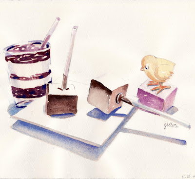 GUIMAUVE watercolor - Paris Breakfasts
