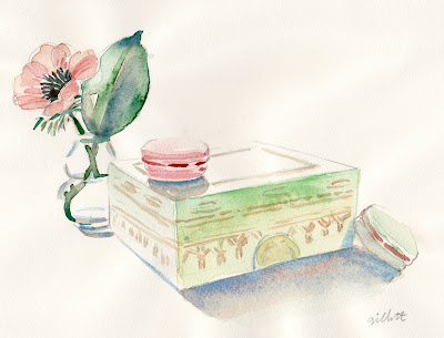 Laduree box with Peony- Paris Breakfasts