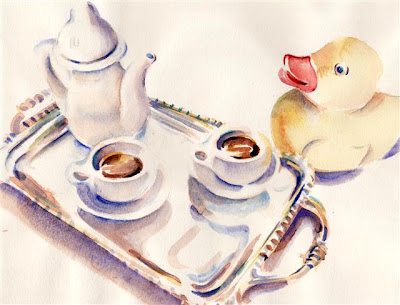 #147 Yellow Duck takes tea
