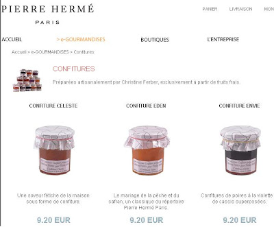 Christine Ferber confiture at Pierre Herme's online store
