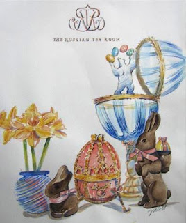 Easter menu for The Russian Tea Room