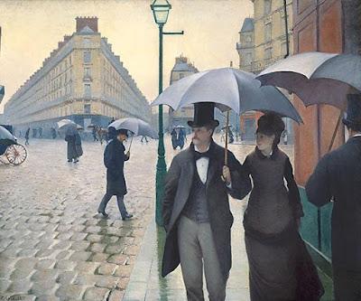 Gustave Caillebotte's Rue de Paris, temps de pluie; Intersection de la Rue de Turin et de la Rue de Moscou