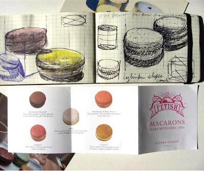 Pierre Herme macaron doodles