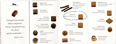 La Maison du Chocolat Chocolate Map