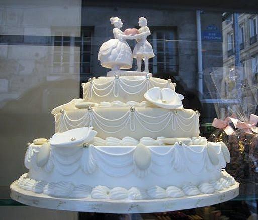 Frenchie Wedding Cake
