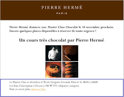 Master class at Pierre Herme