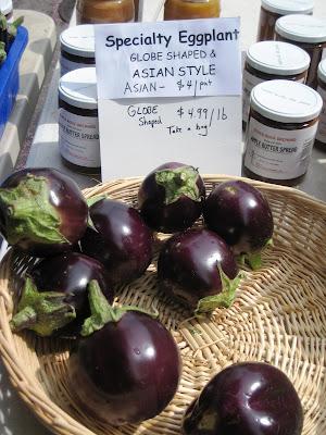 Penn Quarter farmer's market, eggplant