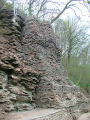The great wall of Snuff Mills - built to stop landslides