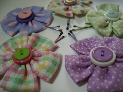 making children's barrettes, hair clip tutorial
