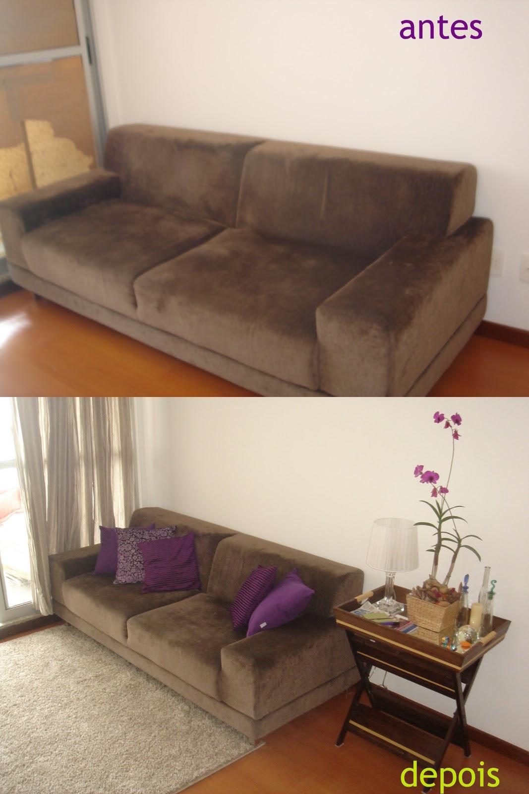 Design de m veis antes e depois dois dias para uma - Sofa para tres ...