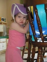 Cami in her helmet